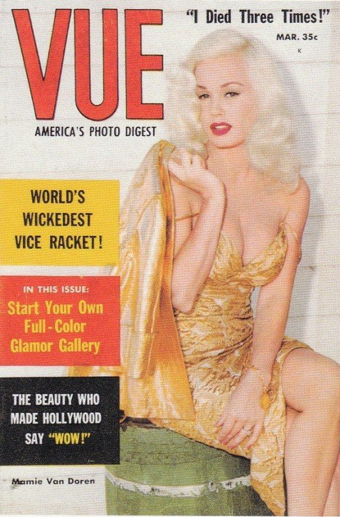 Mamie on the cover of Vue magazine March 1958