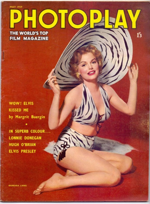 Barbara on the cover of Photoplay 1959