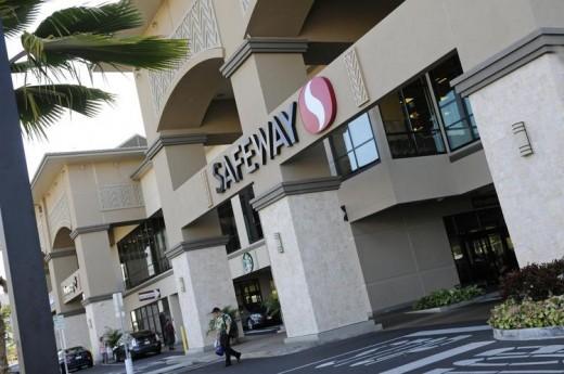 Safeway Supermarrket on Beretania Street on Oahu.