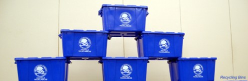 The blue bins' main aim is to instill the recycling consciousness in city residents.