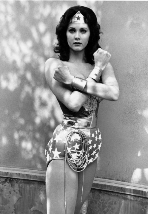 Lynda Carter as  Wonder Woman on  ABC TV series