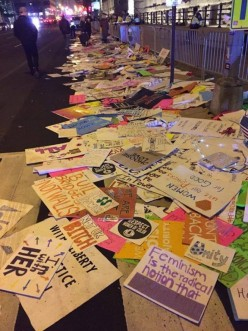 Did you see what a mess these protesters left behind? They should be ashamed don't you think?