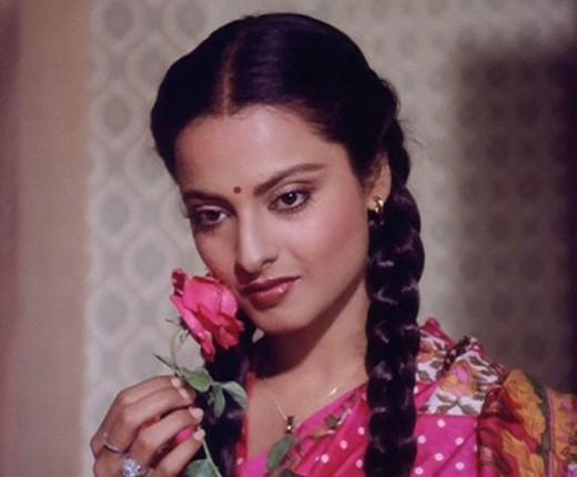 Indian actress Rekha - Beautiful Women
