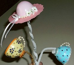 Making Teacups and Hats Using Plastic Eggs