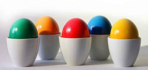 Dyeing eggs is the first step before adding additional decorations.