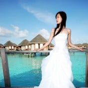Свадебный наряд в восточном стиле.