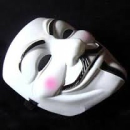 This mask was found when the police exited the house and followed a blood trail that went dead at the start of the woods.