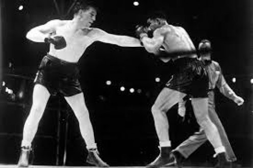 Tommy Farr put up a game effort in losing a decision to the late, great Joe Louis.