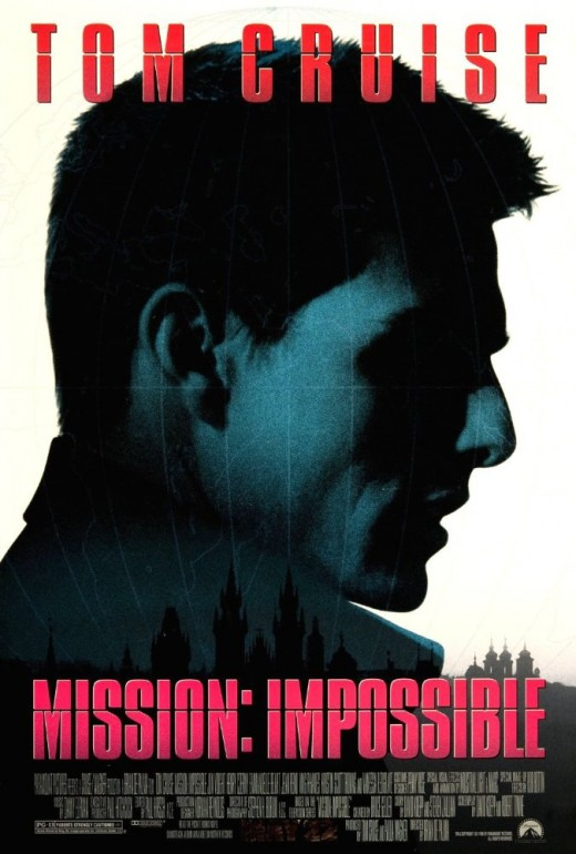 Mission: Impossible (1996); Directed by Brian De Palma; Screenplay by	 David Koepp and Robert Towne; Story by	 David Koepp and  Steven Zaillian; Based on Mission: Impossible (tv series) by Bruce Geller; Produced by and Starring Tom Cruise.