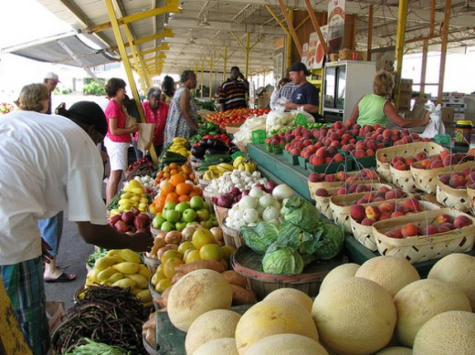 Farmers' markets sell other items besides fruit and vegetables.
