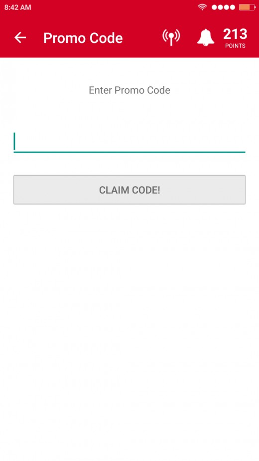 Promo Code Section