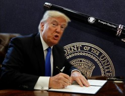Trump: Just a Wrist with a Pen?