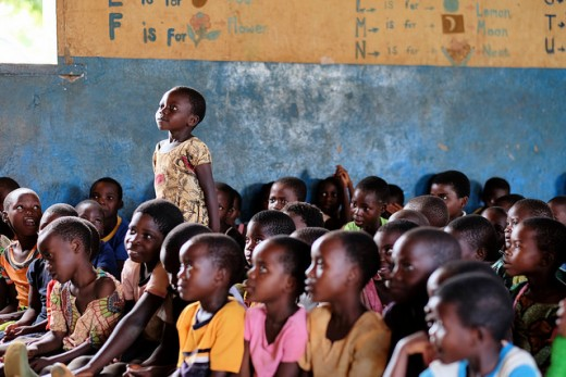 An attentive student in Malawi