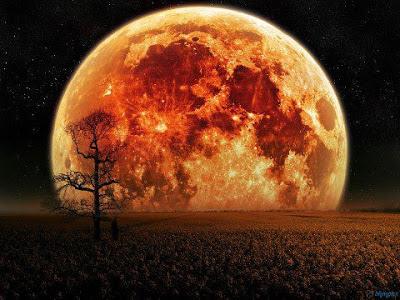 The harvest full moon.
