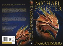 The full book cover of Dragonsong.