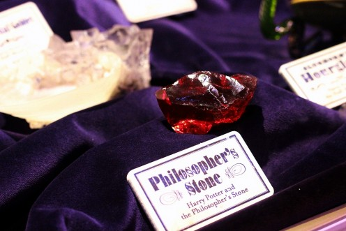 This is how the Philosopher's Stone looks like. The item might seem plain and ordinary, like it's nothing special. But don't let its appearance fool you. This is an important and powerful magical artifact that even the Dark Lord wants