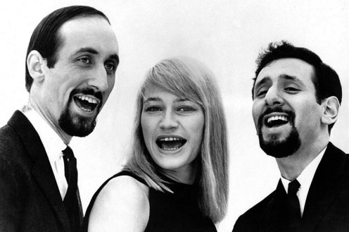 Folk singers Peter, Paul, and Mary