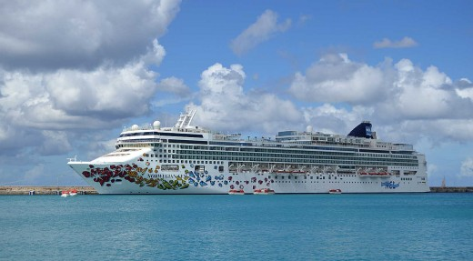 Our colorful cruise ship visited Basseterre and four other Caribbean destinations.