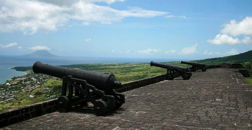 Brimstone Fortress is a well-preserved New World fort that overlooks the St. Kitts cruise port.