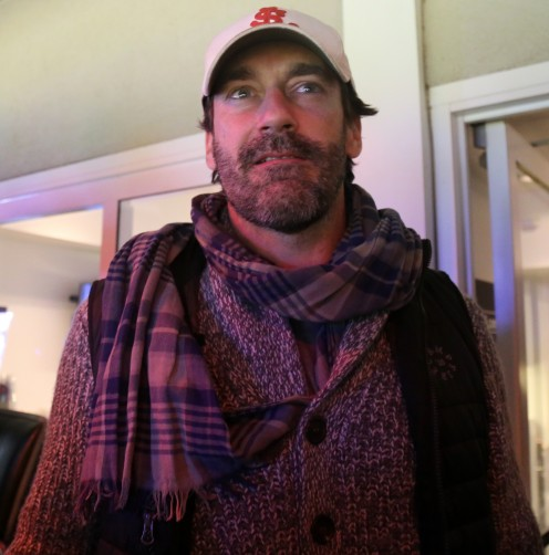 Jon Hamm enjoys Game 5  of World Series where the Chicago Cubs beat the Cleveland Indians for their first World Series Title in 106 years