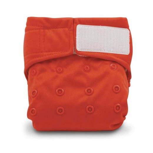 Comfortable red cloth diapers