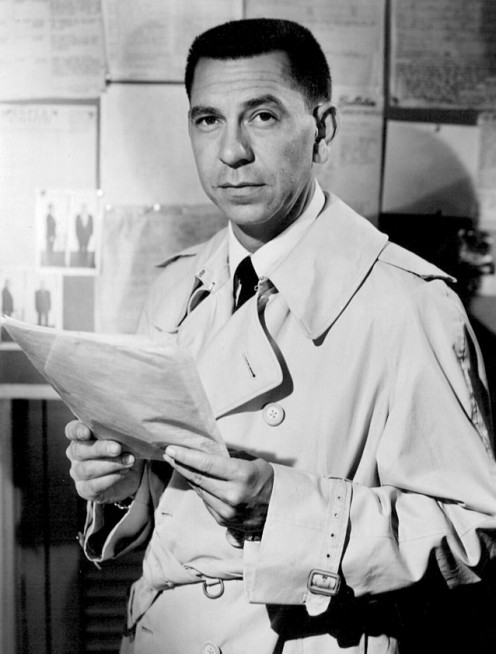 "The late Jack Webb, ""Joe Friday,"" on television's hit series, Dragnet"
