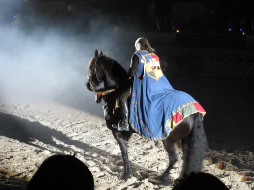 Jousting and feats of derring-do on horseback with special lighting effects entertain you while you eat your medieval style meal. Wonderful!