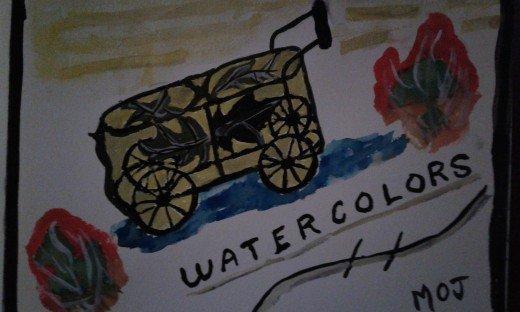 Watercolors painting by M. O. Jones