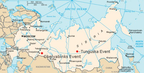 Chelyabinsk February 2013, Tunguska June 1908