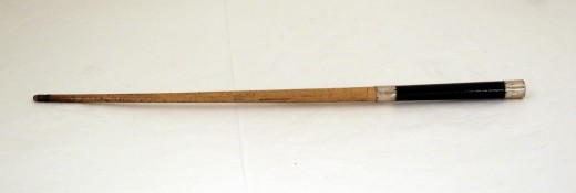 Silver mounted conductor's baton made in the nineteenth century.