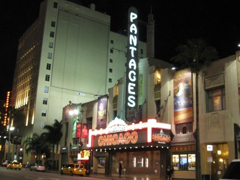 The famous Pantages Theater was where one of the first closed circuit boxing championships was ever held.
