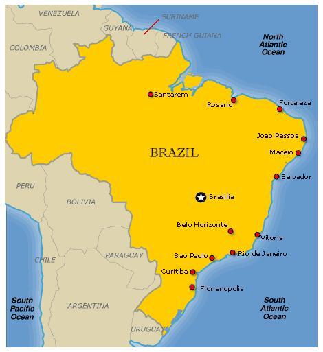 MAP 1 OF BRAZIL