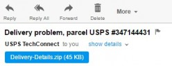 USPS Delivery Package Failure Virus
