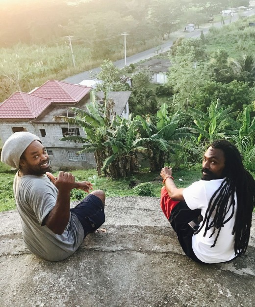 My Cousin Conley and his Friend in Jamaica. You may not use depict or distribute likeness without written consent of the owners.
