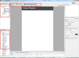 The Flash Builder Editor in Design View