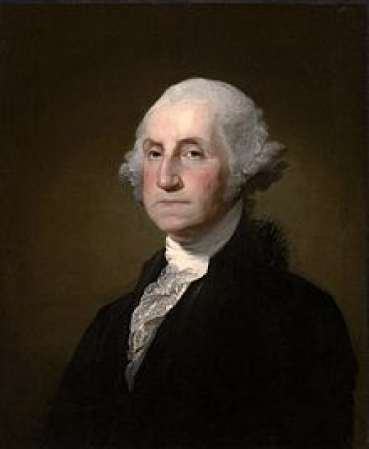 George Washington, First President of the United States, February 22, 1732 - December 14, 1799 (aged 67)