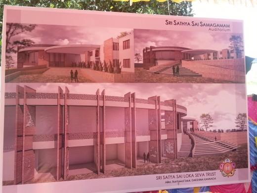 Sri Sathya Sai Samagamam Auditorium - Blueprint