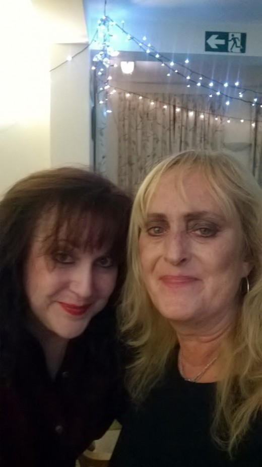Jossy and me. Jossy has been with the Marlow Players for quite a long time, but has been acting for many years elsewhere. With her help and the other guys I think I may be just becoming an actor! lol!