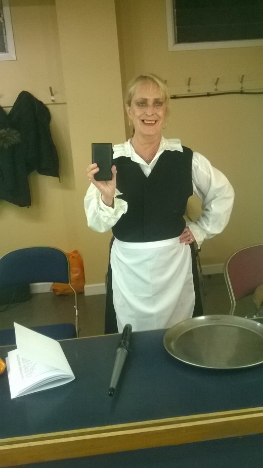 Me in my maid golf waitress costume!