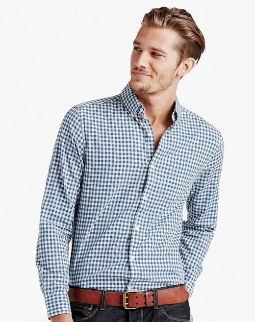 Long-sleeve button shirts are always in style for salsa dancing!