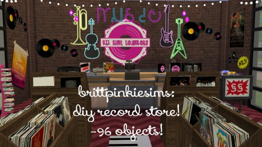 Build your own record store for decoration or retail with the DIY Record Store set!  It contains over 96 objects.