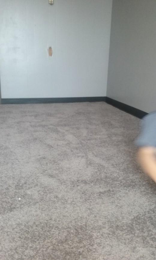 Installed carpet.