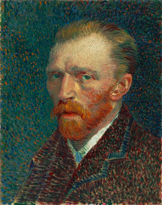 Vincent van Gogh self portrait Spring 1887