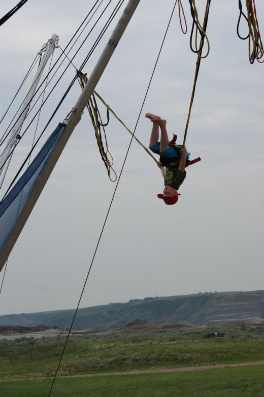 My Grandson loved bungee jumping
