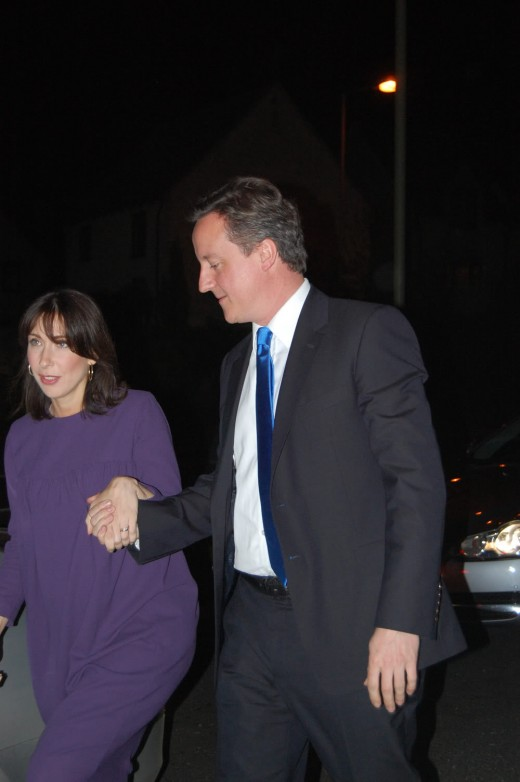 David with wife Sam Cameron