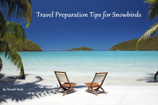 Use the information and checklist in these travel preparation tips for snowbirds