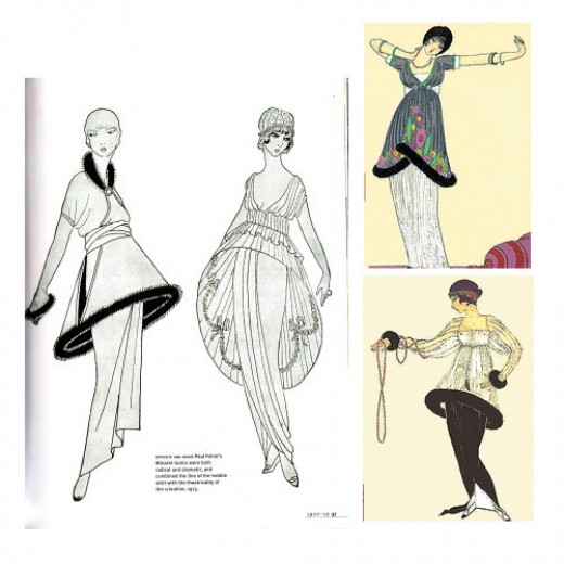 """The first person who stripped from the binding for corsets with intervals in medieval, was Paul Poiret. In 1903, designed outfit known to do Today as a """"coat of Confucius."""" He had straight cut and became an inspiration for future projects Poiret, whi"""