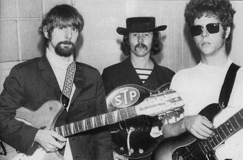 It was not uncommon to have rock bands to pop in when one of the WLS DJ's were working. Here are,David Crosby flying high  with fellow Byrds Roger  McGuinn and Chris Hillman.