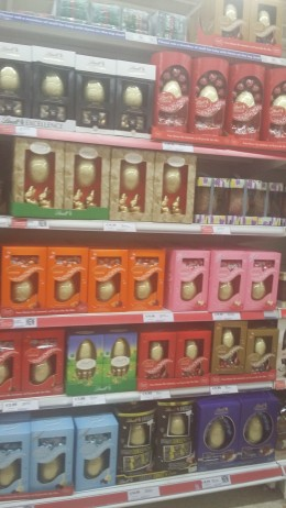 Chocolate Easter Eggs are back in the shops just in time for Easter Sunday.
