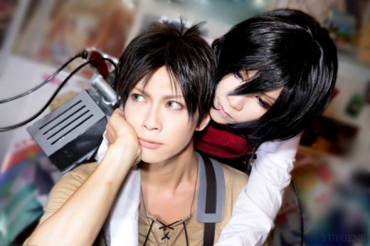 Eren and Mikasa (Kaname and Yuegene)